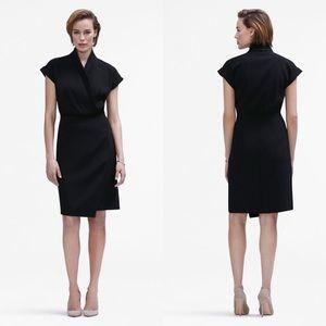 MM Lafleur The Tory 3.0 Black Wrap Style Dress